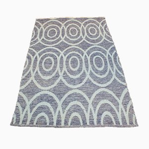 Handmade Blue Wool Kilim Carpet, 2000s