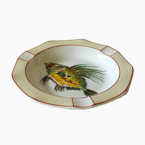 Vintage Fish Ashtray from Bernardaud Limoges, 1940s