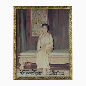 Vintage Thai Solid Silver Gilt & Niello Photo Frame, 1960s
