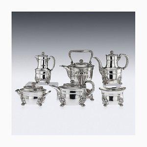 Servizio da tè antico in argento massiccio di Tiffany & Co, Stati Uniti, fine XIX secolo, set di 6