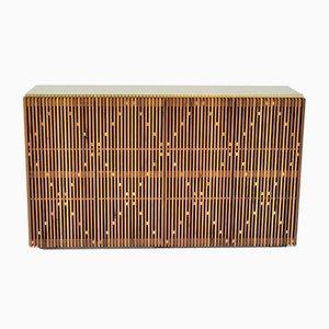Nussholz & Messing Milione Sideboard mit Messingplatte von Debona Demeo für Medulum