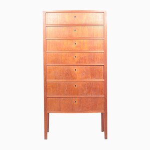 Mid-Century Teak Chest of Drawers by Ole Wanscher for Illums Bolighus, 1960s