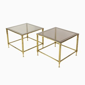 Tables d'Appoint Mid-Century de Maison Jansen, France, 1950s, Set de 2