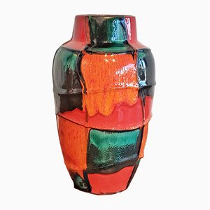 Ceramic No. 549/21 Harlequin Vase by Heinz Siery for Scheurich, 1960s