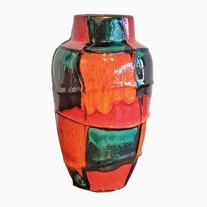 Ceramic No. 549/21 Harlequin Vase by Heinz Siery for Scheurich, 1960s