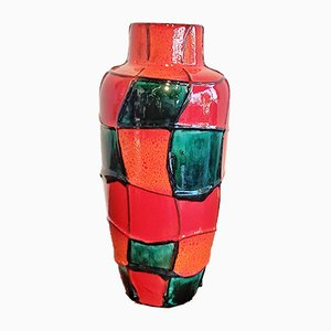Ceramic No. 517/30 Harlequin Vase by Heinz Siery for Scheurich, 1960s