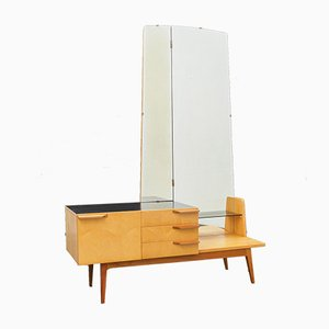 Mid-Century Two-Tone Birch Dressing Table