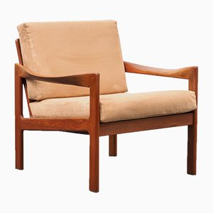 Mid-Century Danish Teak Lounge Chair by Illum Wikkelsø for Niels Eilersen, 1960s
