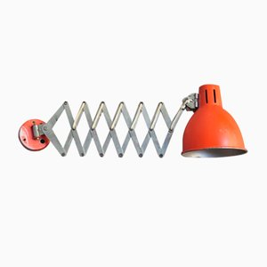Industrielle Ausziehbare Wandlampe, 1950er