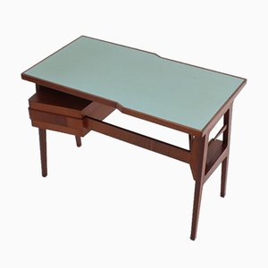 Mid-Century Italian Rationalist Teak Writing Desk by Gio Ponti