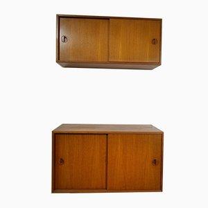 Consoles Murales en Teck par Hansen & Guldborg pour HG Furniture, 1976, Set de 2
