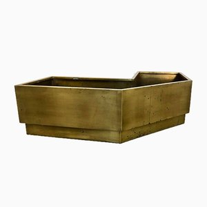 Large Brass Planter Flower Box, 1980s