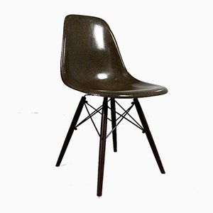 Chocolate DSW Dining Chair by Charles & Ray Eames for Herman Miller, 1980s