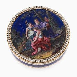 Tabatière Antique en Or 18K et Émail par Rémond & Gide Guidon, Suisse, 1790s