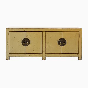 Mid-Century Chinese Auxiliary Furniture Lacquered in Eggshell Colored Wood