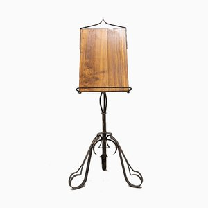 Wrought Iron Lectern and Wooden Stand, 1950s