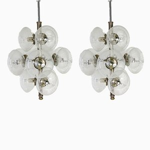 Murano Glass Sputnik Chandeliers from Made Murano Glass, 1960s, Set of 2