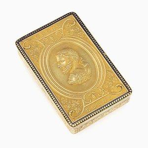 Antike Schweizer Schnaps Schachtel aus 18 Karat Gold & Emaille, Genf, 1800er