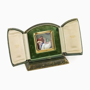 Antique 18k Gold & Enamel Plaque Icon by Bulgari, 1820s