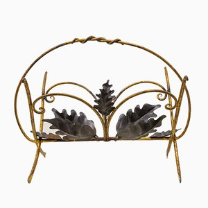 Golden Iron Magazine Rack, 1950s