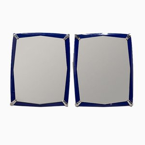 Blue Mirrors, 1970s, Set of 2