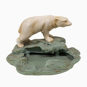 Art Deco Ashtray with Polar Bear, 1920s