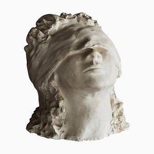 Mid-Century Modern Italian White Plaster Sculpture by Ida Fua, 1940s