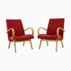 Bentwood Lounge Chairs by Thonet, 1960s, Set of 2