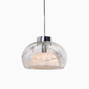 Hängelampen aus handgeblasenem Glas von Doria Leuchten Germany, 1970er, 2er Set