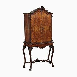 Mid-Century Walnut Burl Cabinet