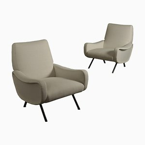 Mid-Century Italian Armchairs by Marco Zanuso for Arflex, Set of 2