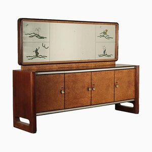 Sideboard with Mirror, 1940s