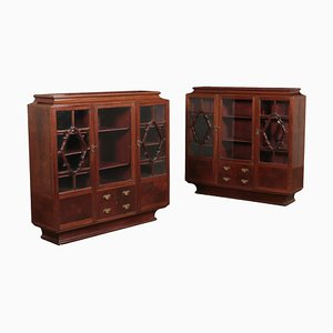 Art Deco Display Cabinets, Set of 2