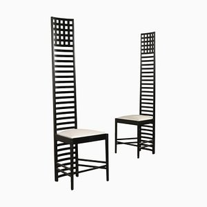 Hill House Chairs by Charles Rennie Mackintosh for Cassina, Set of 2