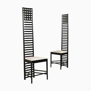 Hill House Stühle von Charles Rennie Mackintosh für Cassina, 2er Set