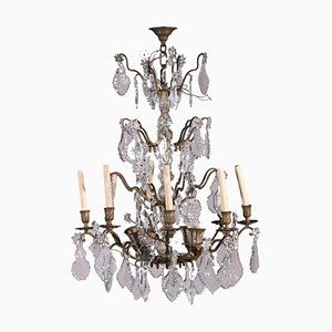 19th Century Italian Bronze and Glass 12-Light Chandelier