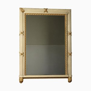 19th Century Italian Lacquered Gilded Mantelpiece Mirror