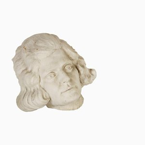Italian Gypsum Face Sculpture, 1900s