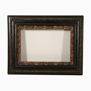 17th Century Italian Ebonized Frame Mirror