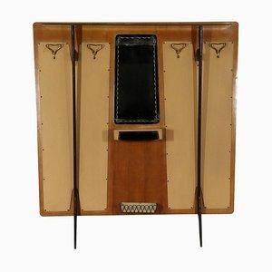Mobile da ingresso vintage in similpelle e legno ebanizzato di Palazzi dell'Arte, Italia