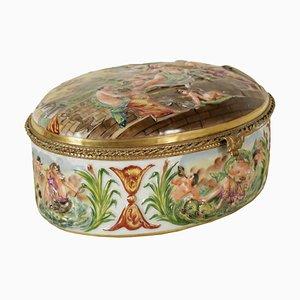 Antique Italian Capodimonte Jewel Case