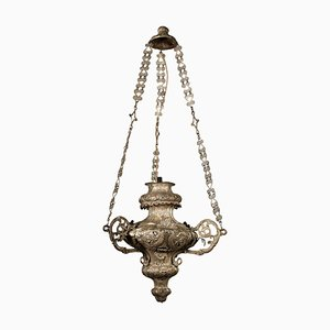 19th Century Italian Silver-Plated Lantern Chandelier