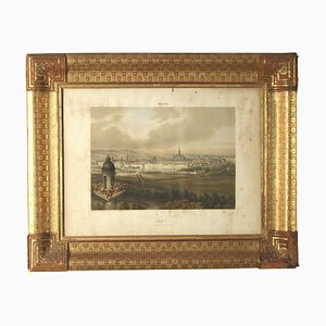 19th Century Austrian Frame with Print of Vienna