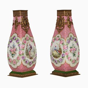19th Century Porcelain Vases from Sevres, Set of 2