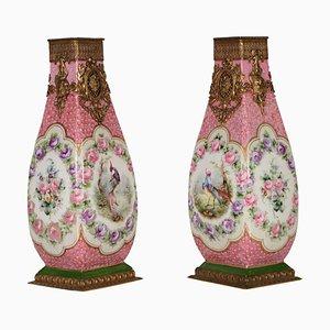 Porzellan Vasen von Sevres, 2er Set