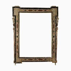 Großer Antiker Spiegel mit Lackiertem Rahmen, Italien