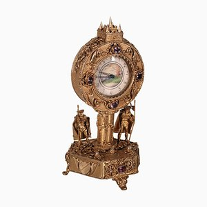 Antique Silver Table Clock