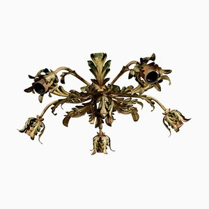 Chandelier with Sheet Leaves, Italy, 20th Century