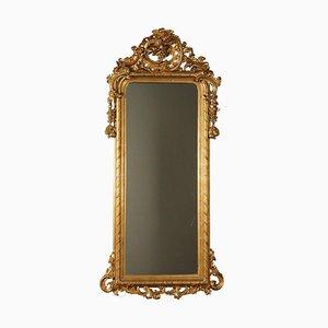 Spiegel mit vergoldetem Holzrahmen, Frankreich, 19. Jahrhundert