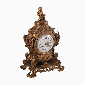 Bronze Table Clock, France, 19th Century